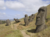Moai Quarry  Ranu Raraku Volcano  Unesco World Heritage Site  Easter Island (Rapa Nui)  Chile