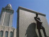 Lincoln Statue at Nebraska State Capitol  Lincoln  Nebraska  USA