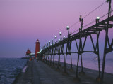 Grand Haven Lighthouse on Lake Michigan  Grand Haven  Michigan  USA