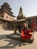 Holy Man in His Shiva Outfit in Mul Chowk  Durbar Square  Kathmandu