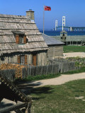 Colonial Michilimackinac  Mackinaw City  Michigan  USA