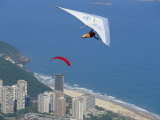Hang-Glider Just after Take-Off from Pedra Bonita  Rio De Janeiro  Brazil  South America