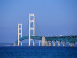 Mackinac Bridge  Mackinaw City  Michigan  USA