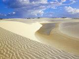 Sandy Dunes Near Lagoa Bonita (Beautiful Lagoon) at Parque Nacional Dos Lencois Maranhenses  Brazil