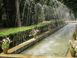 Fountains in Maria Luisa Park  Seville  Andalucia  Spain