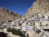Christian Village of Maloula  Beneath Limestone Cliffs  Syria  Middle East