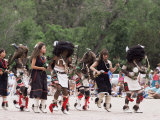 Buffalo Dance Performed by Indians from Laguna Pueblo on 4th July  Santa Fe  New Mexico  USA