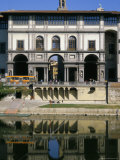 The Uffizi Reflected in the Arno River  Florence  Tuscany  Italy