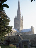 Norman Cathedral  Dating from 11th Century  with 15th Century Spire  Norwich
