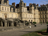 Horseshoe Staircase Dating from 1632-1634  Chateau of Fontainebleau  Seine-Et-Marne