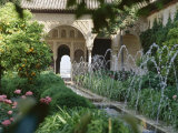 The Canal Court of the Generalife Gardens in May  Granada  Andalucia  Spain