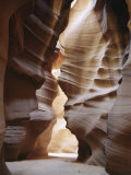 Slot Canyon in Red Sandstone  Antelope Canyon  Near Page  Arizona  USA