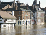 Flooded Street in 2002  York  Yorkshire  England  United Kingdom