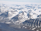 Glaciers and Nunateks of Winsnesfjelle  Torrell Land  Spitsbergen  Svalbard  Arctic  Norway
