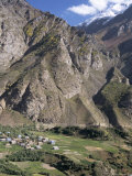 Himalayan Mountain Village in Chenab Valley Near Keylong  Himachal Pradesh  India
