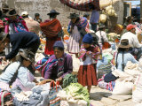 Sunday Market at Tarabuco  Near Sucre  Bolivia  South America
