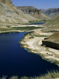 Band-I-Zulfiqar  the Main Lake at Band-E-Amir (Dam of the King)  Afghanistan&#39;s First National Park