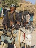 Boy on Donkey Cart  Maimana  Faryab Province  Afghanistan