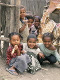 Village Children in Bati  Northern Highlands  Ethiopia  Africa