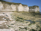Wave-Cut Platform  and Chalk Cliffs  Flamborough South Landing  Yorkshire  England