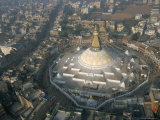 Aerial View of Boudhanath Stupa  Kathmandu  Nepal