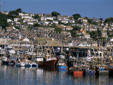Fishing Boats in Harbour  Newlyn  Cornwall  England  United Kingdom