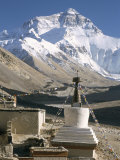 North Side of Mount Everest (Chomolungma)  from Rongbuk Monastery  Himalayas  Tibet  China