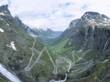 Route from Andalsnes to Geiranger  Trollstigen Road  Western Fiordlands  Norway  Scandinavia