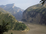 Upstream End Seen from Fengjie  Qutang Gorge  Three Gorges  Yangtze River  China