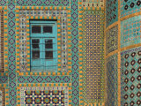Tiling Round Blue Window  Shrine of Hazrat Ali  Who was Assissinated in 661  Balkh Province
