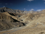 Crossing the Zanskar Mountains Near Pang  4600M Altitude  Leh-Manali Highway  Ladakh  India