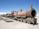 Cementerio De Trenes  Steam Engine Relics in Desert  Uyuni  Southwest Highlands  Bolivia