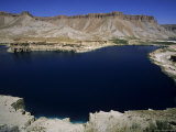 Band-I-Zulfiqar  the Main Lake at Band-E-Amir (Dam of the King)  Afghanistan's First National Park