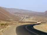 Rift Valley Faults in Desert Crossed by Road to Addis Ababa  Afar Triangle  Djibouti  Africa
