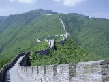 Restored Section of the Great Wall (Changcheng)  Northeast of Beijing  Mutianyu  China