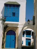 House Painted in Blue and White  Sidi Bou Said  Tunisia  North Africa  Africa