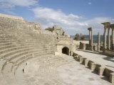 The Theatre  Dougga (Thugga)  Unesco World Heritage Site  Tunisia  North Africa  Africa