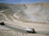 Chuqui Open-Pit Copper Mine  4Km Long  720M D Eep  Chuquicamata