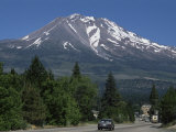 Mount Shasta  a Dormant Volcano with Glaciers  14161 Ft High  California