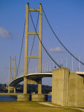 The Humber Bridge  from the South  England  Uk