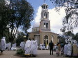 Festival of St Mary&#39;s  St Mary&#39;s Church  Addis Ababa  Ethiopia  Africa