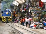 Aguas Calientes  Tourist Town Below Inca Ruins  Built Round Railway  Machu Picchu  Peru