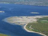 Delta of Sand at River Mouth  Kvaenangen Sorfjord  North Norway  Scandinavia