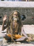 Portrait of a Sadhu  Hindu Holy Man  Pashupatinath Temple  Kathmandu  Nepal