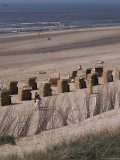 Cane Chairs on Beach  Egmond  Holland