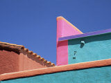 Colourful Roof Detail in Village  La Placita  Tucson  Arizona  USA