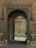 Archway Leading to the Bodleian Library  Oxford  Oxfordshire  England  United Kingdom