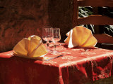 Table for Two in the Old Quarter of Le Suquet  Alpes-Maritimes  Provence  France