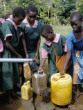 School Children at Water Pump  Kenya  East Africa  Africa