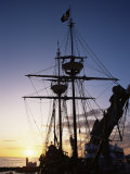 Pirate Ship in Hog Sty Bay  During Pirates' Week Celebrations  George Town  Cayman Islands
